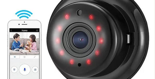 Mini IP Camêra inteligente c/alarme de detenção de movimentos e visão nocturna
