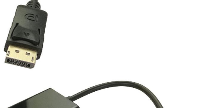 Conversor DisplayPort DP macho para VGA fêmea