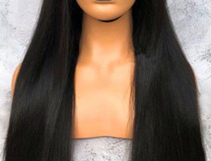 Peruca front lace recta pré-cozida de cabelo humano e 150% de densidade BOWIN
