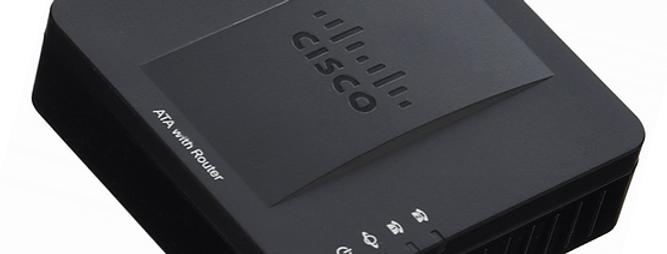 Adaptador de Telefone Analógico CISCO ATA SPA122 com roteador