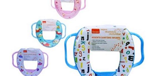 Assento Sanitário Infantil com suporte de mão