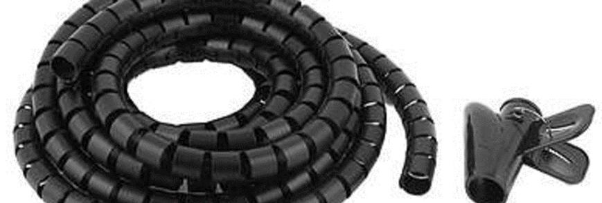 Organizador de cabos profissional, 2.5m , flexivel com fixador