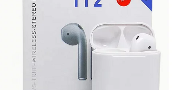Fones de ouvido iDiskk i12 TWS Bluetooth 5.0 para Android e iOS