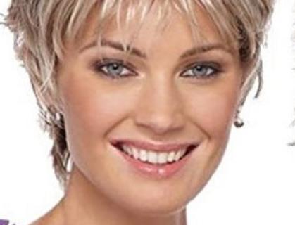 Peruca curta de cabelo loiro WS709