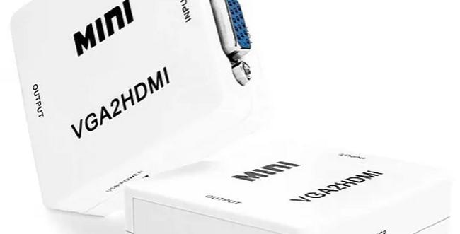 Conversor MINI de sinal analógico para Digital, VGA para HDMI alta definição