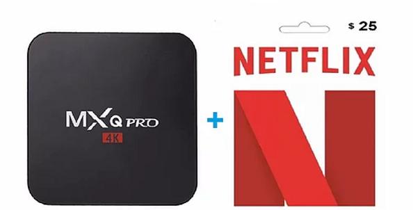 SmarTV Box MXQ Pro 4K 1GB/8GB + NETFLIX