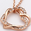 Thumbnail: Colar e pingente dourado de coração duplo