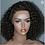 Thumbnail: Peruca front lace de cabelo cacheado brasileiro virgem 180% densidade, T-12