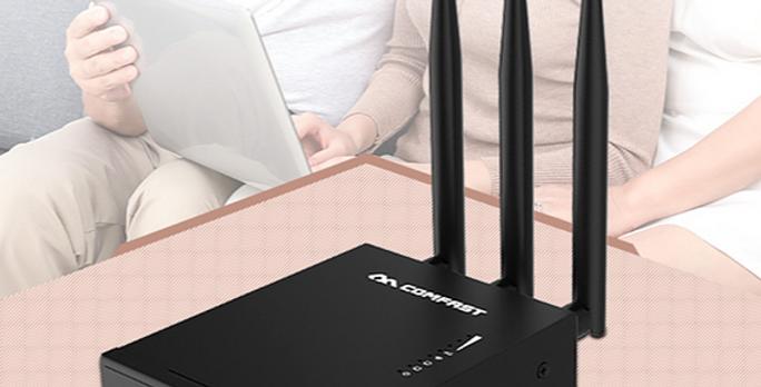 Roteador e Ponto de acesso GSM 3G 4G LTE Sim Card Wifi Exterior COMFAST CF-E7