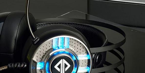 Auriculares AJAZZ AX360 gaming com microfone de luz RGB - Preto
