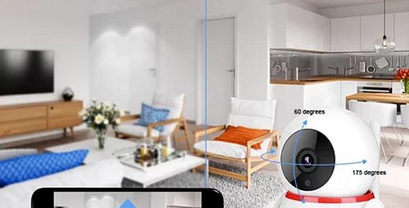 Mini câmera inteligente HD 1080 P c/Áudio bidirecional 2MP CCTV Sem Fios