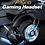 Thumbnail: Auriculares AJAZZ AX360 gaming com microfone de luz RGB - Preto