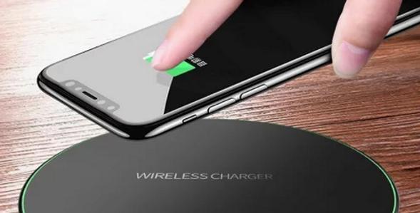 Carregador rápido sem fios p/ IPhone X, 8, 8 Plus, XR, XS, Samsung S8 S9 e Note9