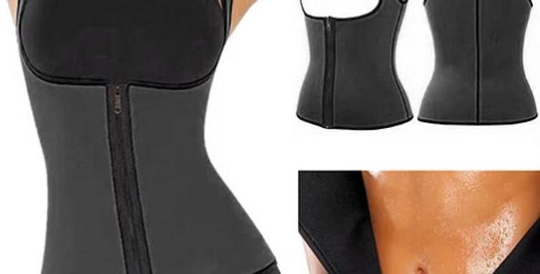 Colete modelador corporal para mulher. Ajuda a queimar gordura abdominal