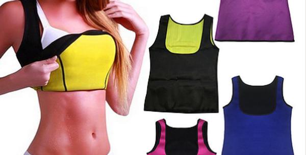 Colete modelador corporal de neoprene. Ajuda a queimar gordura abdominal.