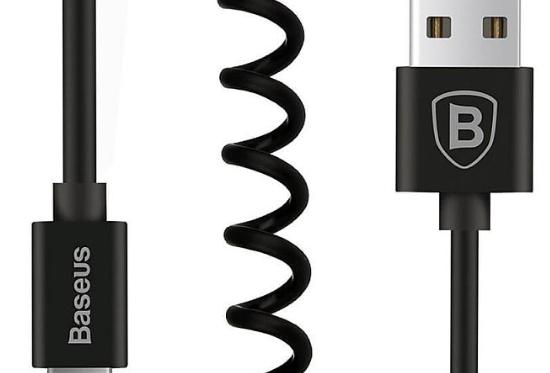 Carregador e sincronizador de dados elástico, universal p/ iPHONE e iPAD
