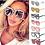Thumbnail: Óculos de sol caixa grande, estilo quadrado, para mulher