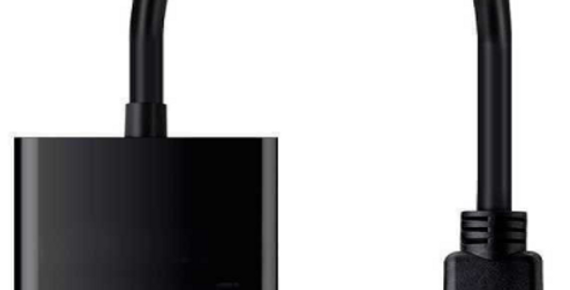 Conversor digital para analógico, HDMI macho para VGA fêmea