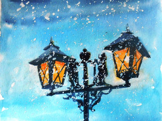 Новогодние открытки с рисунками Юлии Узрютовой