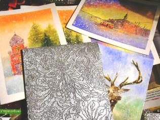 Акварельные открытки ручной работы