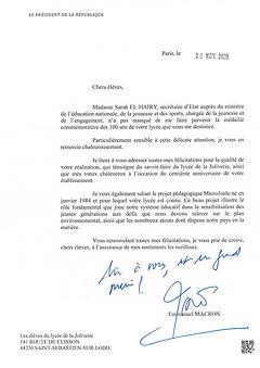 Président de la République_Remerciements
