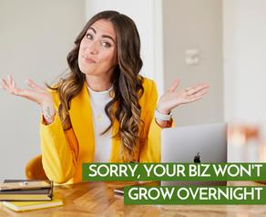 Sorry, Your Biz Won't Grow Overnight