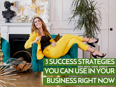 3 Success Strategies You Can Use in Your Business RIGHT NOW! (and they're totally free!)