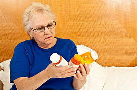 Woman with medications
