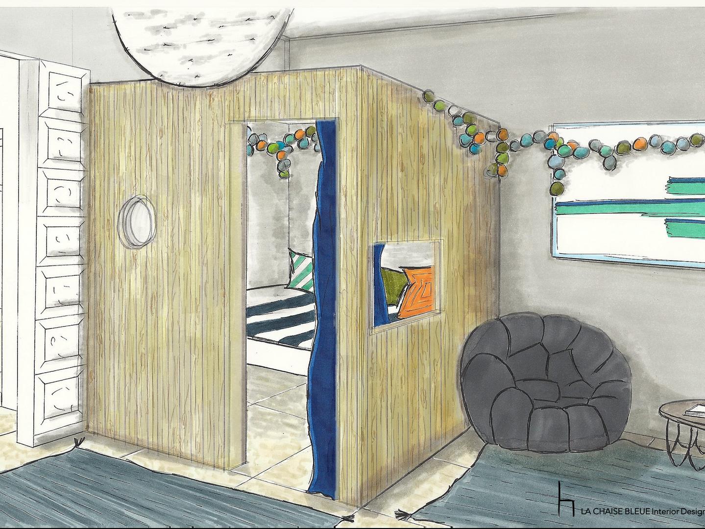 LE ROCHER Kid bedroom - Sketch
