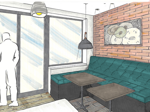 LEAMINGTON SPA Kitchen extension - Sketch