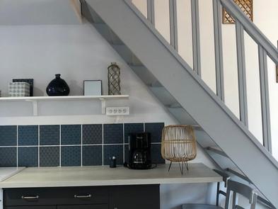 Jard sur Mer - kitchen under stairs