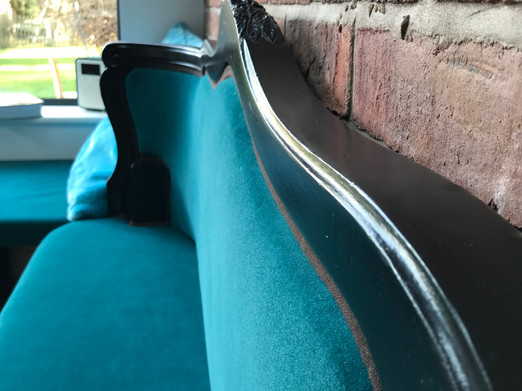LEAMINGTON SPA Kitchen extension - Bold peacock booth seating
