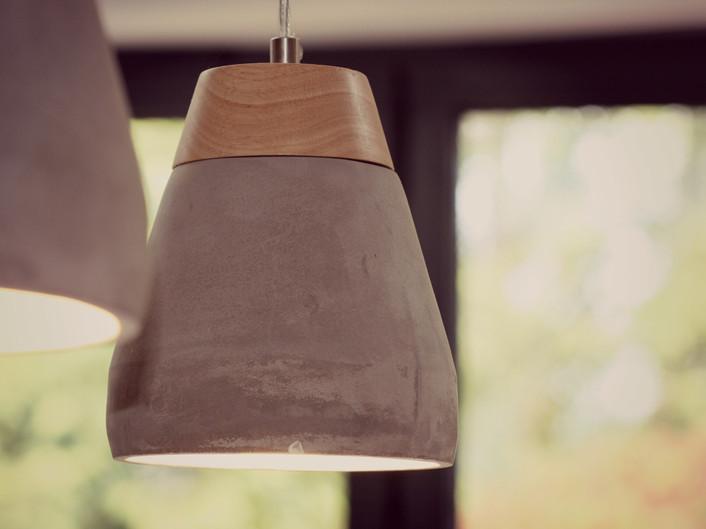 LEAMINGTON SPA Kitchen extension - Cement pendant lights