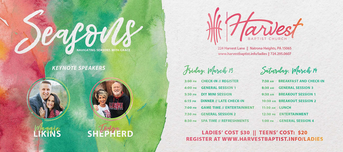 Ladies Conference Save the Date Postcard