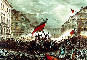 Painting of the 1848 European revolutions