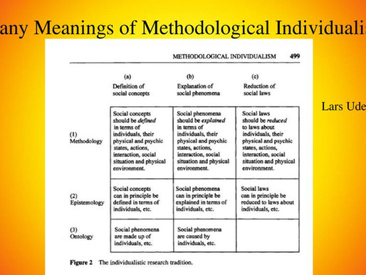 Methodological individualism vs. holism