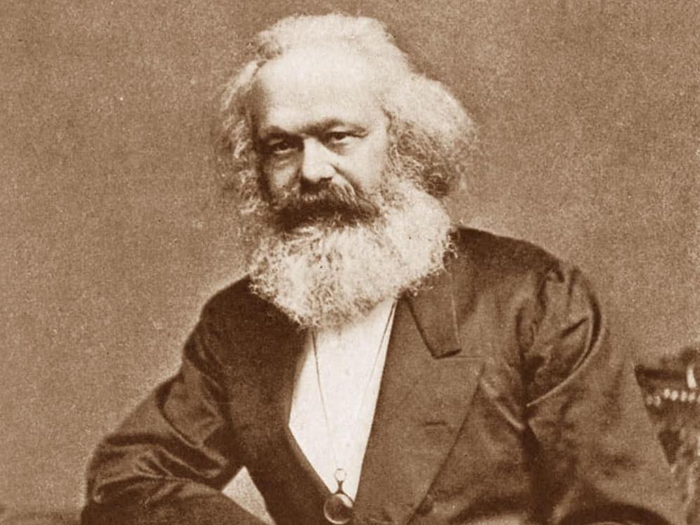 An aged Karl Marx