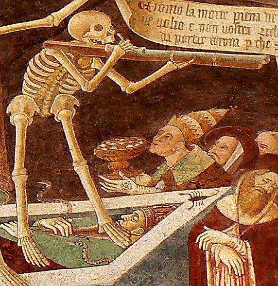 A skeleton - symbolizing capitalism