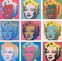 Andy Warhol paints Marilyn Monroe