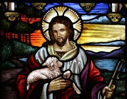 Jesus holding a sheep