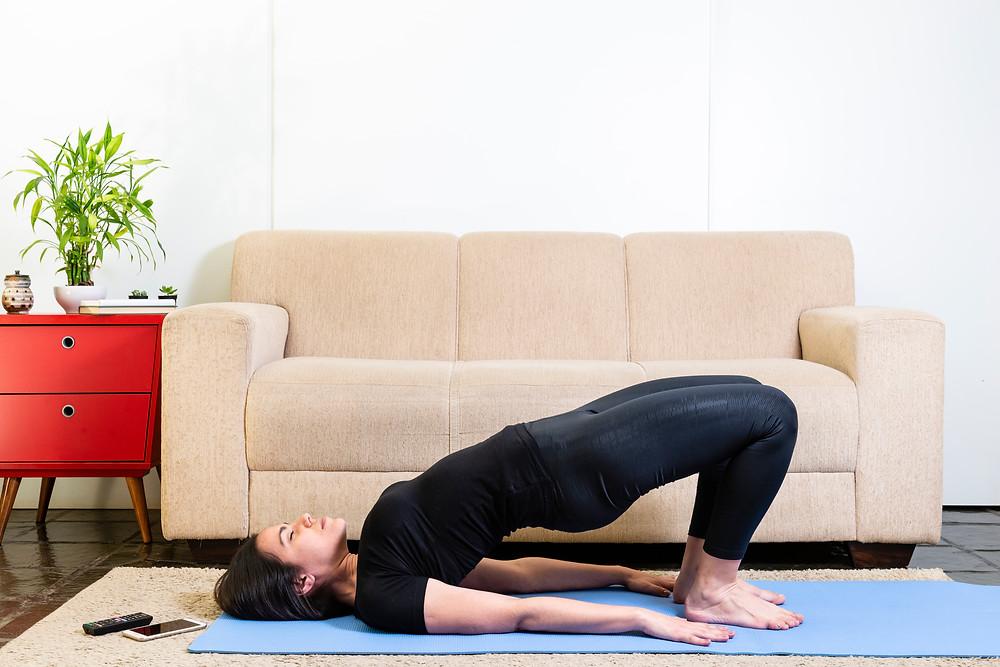 Woman doing Bridge Pose
