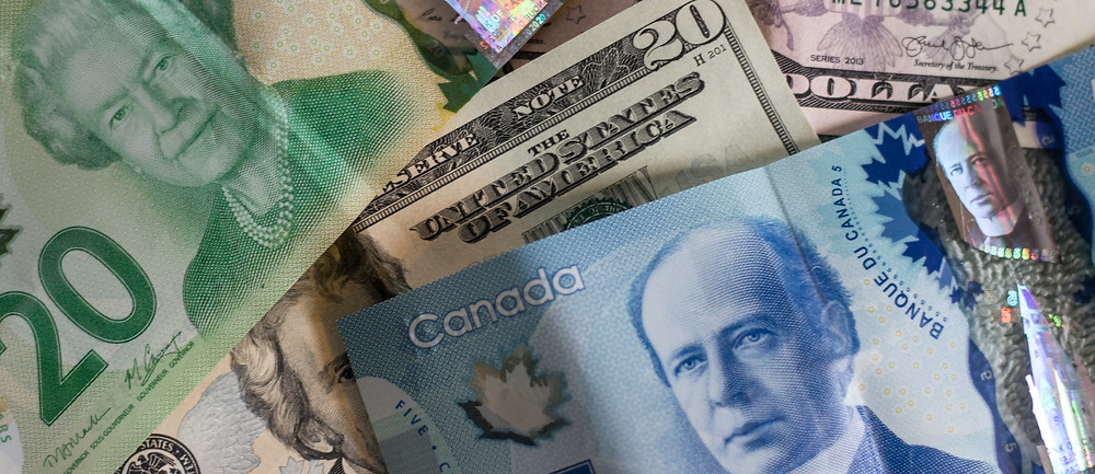 Canadian and American paper money