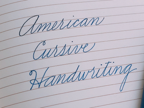 Introduction to American Cursive Writing