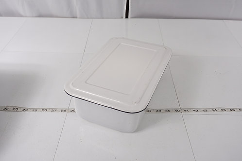 Enamel Surgical Ware Pan With Lid