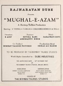 MUGHAL - E - AZAM