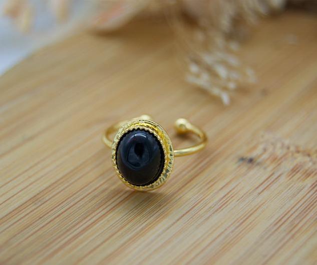 Bague Agate Noire