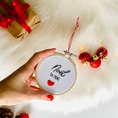 Cercle à broder suspension de Noël