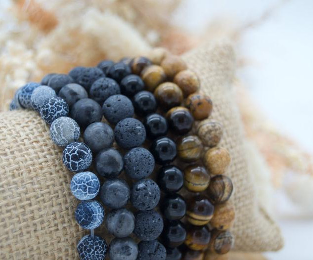Bracelets perles pierres