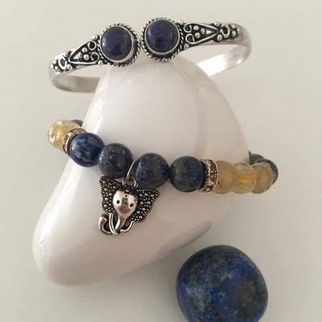 Bracelet laiton lapis lazuli
