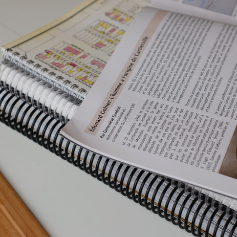 Article pour le bulletin de la Société d'histoire d'Ahuntsic-Cartierville
